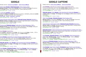 Google vs Google Caffeine